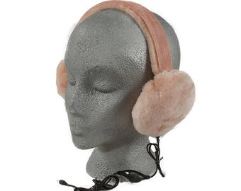 Earmuffs with headphones 4 colors to choose from Luxurious Merino Shearling Earmuffs