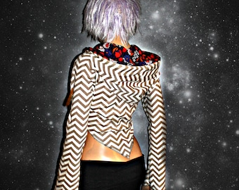 POPPY Cropped Mandala Hoodie // ORGANIC COTTON