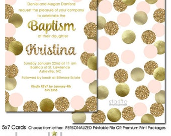 Baptism Invitation Girl | Girl Baptism Invitation | Girl Dedication Invitation | Christening Invitation Girl | Baptism Invitation Girl Cards