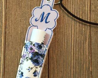 LIP BALM HOLDER, Chapstick  Holder, key chain, personalized key chain, Lanyard