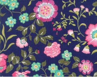 Regent Street Cotton Lawn - English Garden in Navy  33190-19 - by Sentimental Studios for Moda Fabrics -  By the Yard