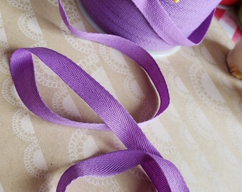 """PURPLE Twill Tape Trim - Polyester Sewing Bunting Shipping Packaging - 1/2"""" Wide - 10 Yards"""