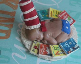 Dr Seuss Story Time baby shower cake topper - little hope cakes