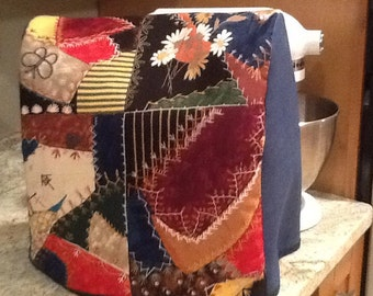 KitchenAid Stand Mixer Cover Crazy Quilt fabric Kitchen Aid