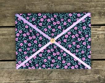 Purple Flower Fabric Board w/ Purple Ribbon (SC)