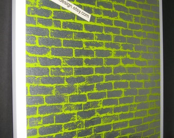 Lime Bricks ..Magnetic Dry Erase Memo Board/ Housewarming Gift / Office Decor / Desk / Organization / Message Board / Coworker/ Wall Hanging