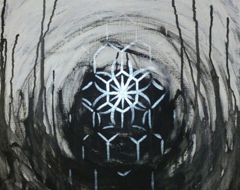 Black and silver abstract w/ geometry