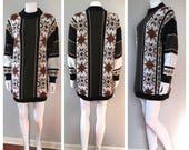 Vintage knit sweater dres...