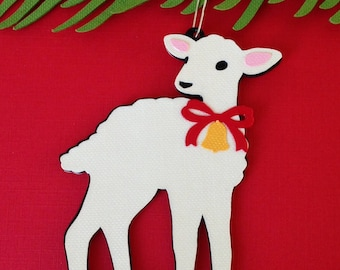 Lamb Christmas tree ornament
