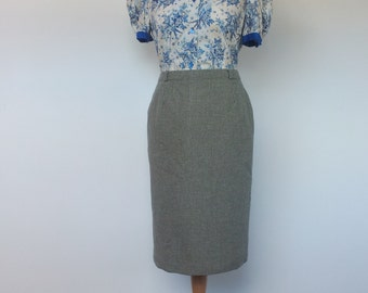 Skirt English Country Woollen Checked Green