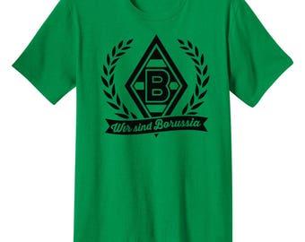 Borussia Monchengladbach T Shirt Germany Deutschland Fusball Futbol Soccer