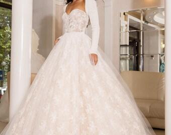 Bridal bolero, Bridal Shrug, Bridal Cover up, Cream Wedding sweater, vegan wedding shrug Ready to ship