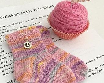 Babycakes HighTop  Socks Knitting Pattern ***Digital Download***