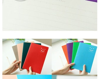 Notebook - Sweet Smiley (2pcs)   A5 notebook   Stationery Book   Smiley Face