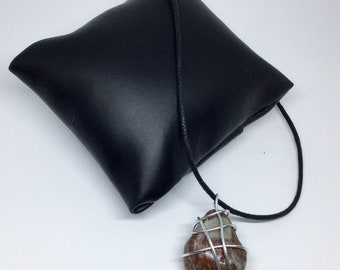 Wire wrapped Tasmanian stone necklace