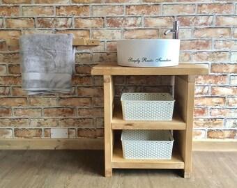 The Vineyard wash stand Hand crafted rustic bathroom vanity unit Wooden  vanity