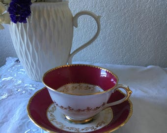 Tea Cup, Vintage Cup and Saucer, Tuscan Fine Bone China, Made in England
