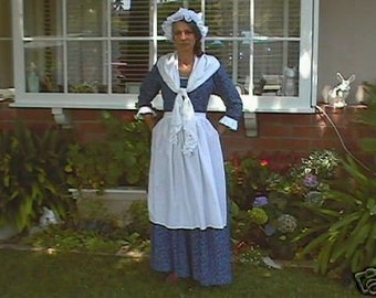 LINDA SPECIAL Dar gown revolutionary war gown made to measurement and choice of print 14-2x