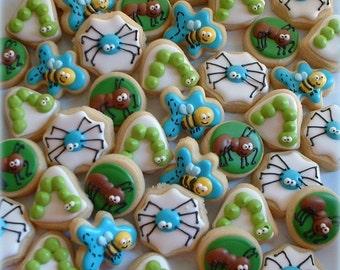 Bug Cookies - 2, 3, or 4 dozen MINI insect cookies - bee cookies - ant cookies - spider cookies - children birthday