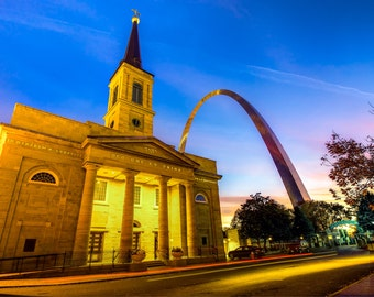 St. Louis Art - The Old Cathedral - Gateway Arch - Cityscape of Saint Louis