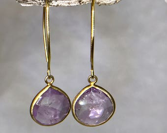 Amethyst Drop Down Earrings