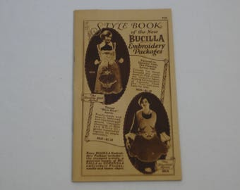 """Vintage 1926 Bucilla Style Book of """"The New Embroidery Packages"""""""