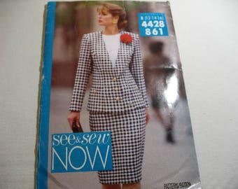Vintage See & Sew Pattern 4428 861, Skirt and Jacket