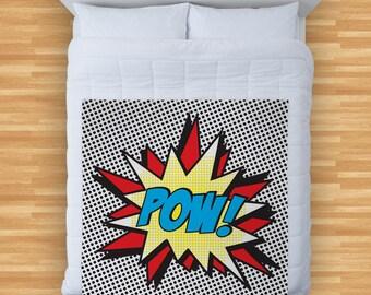 Comic Book POW Phrase Design Fleece Blanket Throw Picnic Blanket