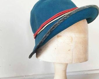 Blue Flapper Cloche Hat