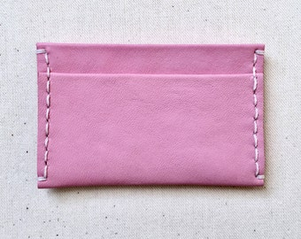 Pink Leather Card Case