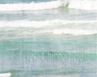 Ocean Photography, Aqua Seascape Photo Print, Sea green Waves, Ocean Spray Photo, Beach Home decor, Teal Ocean Picture, Blue Wall Art, Surf