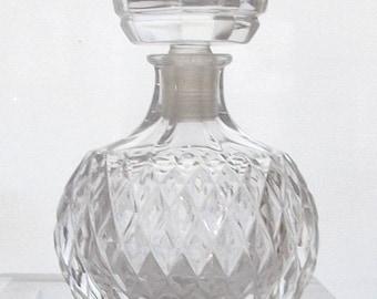 Vintage LALIQUE Nina Ricci CAPRICCI Faceted French CRYSTAL Glass Perfume Bottle..Nouveau Avant Garde