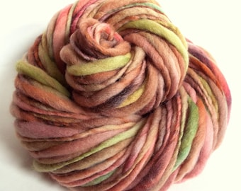 Chunky yarn merino wool yarn hand dyed yarn handspun yarn chunky merino wool bulky yarn weaving yarn thick and thin yarn art yarn knitting