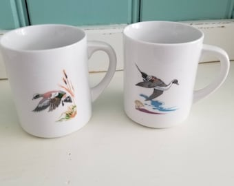 Bird Mugs by Ned Smith, American Widgeon, Pintail