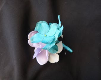 Hydrangea boutonniere, rustic country hydrangea boutonniere, Customizable, button hole, corsage