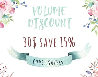 Volume Discount 15% off. Do not buy this listing!!!