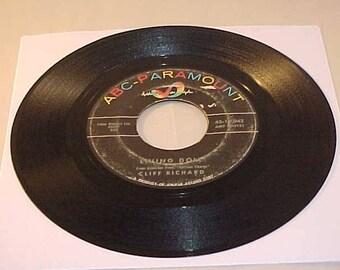 Cliff Richard - 45 Vinyl Record - Living Doll / Apron Strings