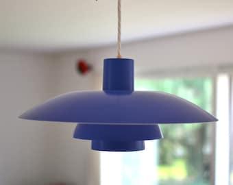 Poul Henningsen PH 4/3 Pendant Blue from Louis Poulsen A/S - Denmark mid century lighting