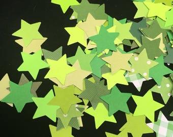 Green Star Confetti - Diecuts 100count