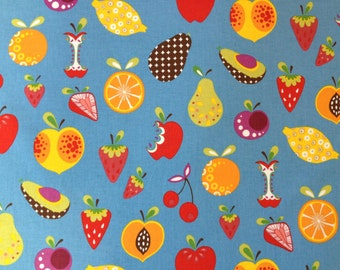 FABRIC  -5.5 yards- Alexander Henry  -Willow Orchard - Fruit