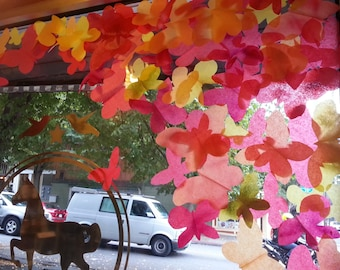 "300 Fall Butterfly ""leaves"" for Autumn window display / party decoration"