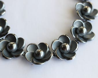 Boucher Parisina Sterling Necklace- Marcel Boucher Flower Necklace- Reduced Price - Free US Shipping