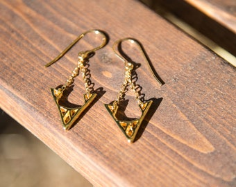 Element Collection: V Drop Earrings
