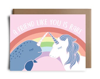 A Friend Like You Is Rare Greeting Card
