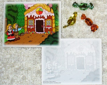 "Card ""Hansel and Gretel"" (10,7 x 13,8 cm)"