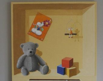 decorative painting trompe l'oeil child's room