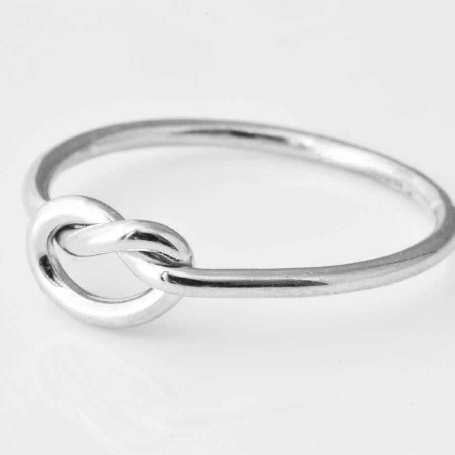 gold love engagement thick shop knot gauge double ring rings
