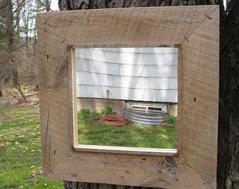 Medium Rustic Barn Wood Mirror no.1608