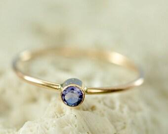 14k gold custom birthstone ring - mothers ring - natural gemstone ring - birthday gift for her - gift for mom - promise ring