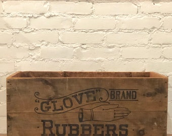 """Shipping Crate - """"Glove"""" Brand Rubbers"""